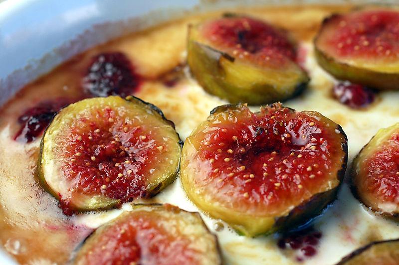 Raspberry fig gratin 4