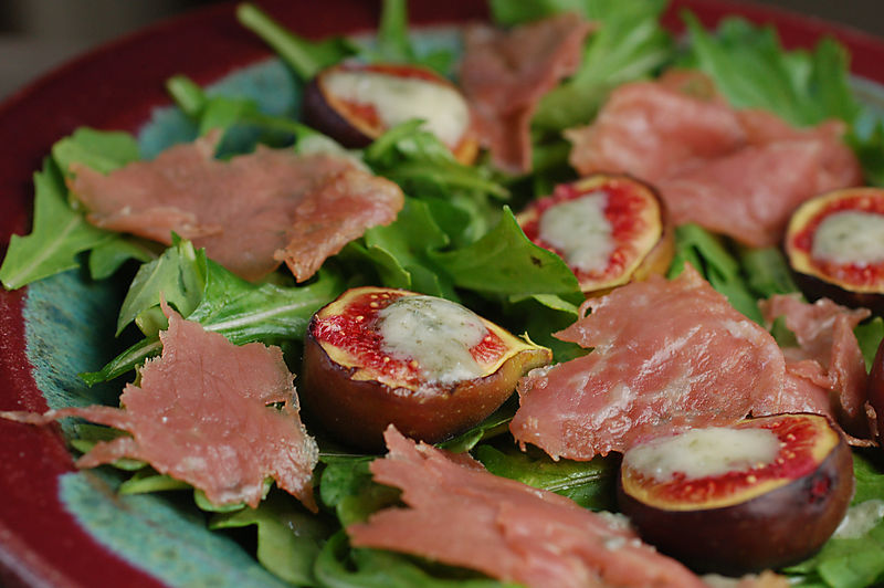 Fig gorgonzola salad 9