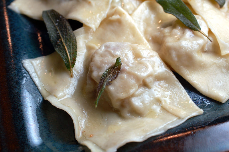 Potato leek ravioli 5