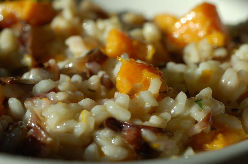 Butternut squash and raddichio risotto 3