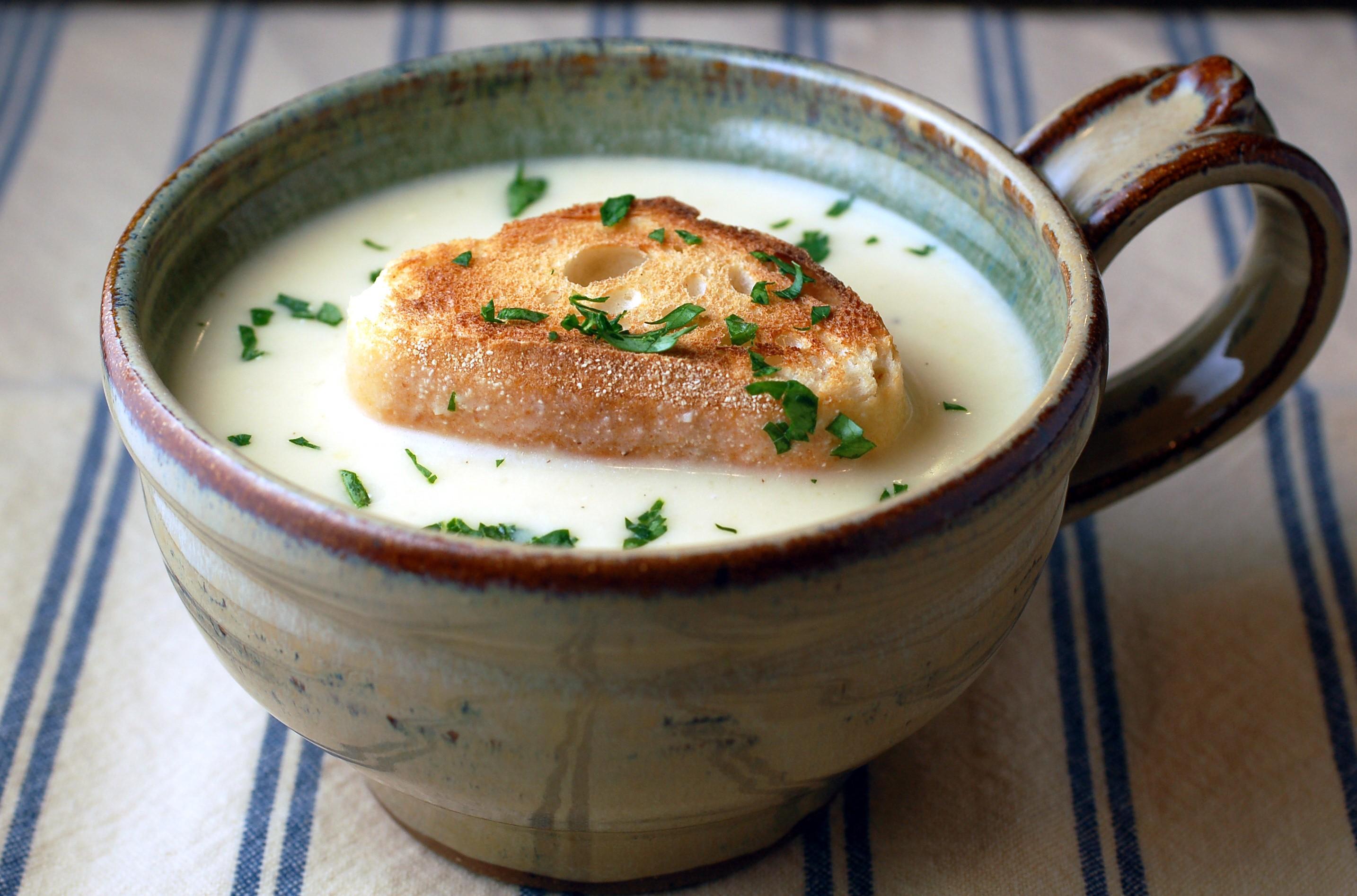 Kitchenography James Beard S Garlic Soup