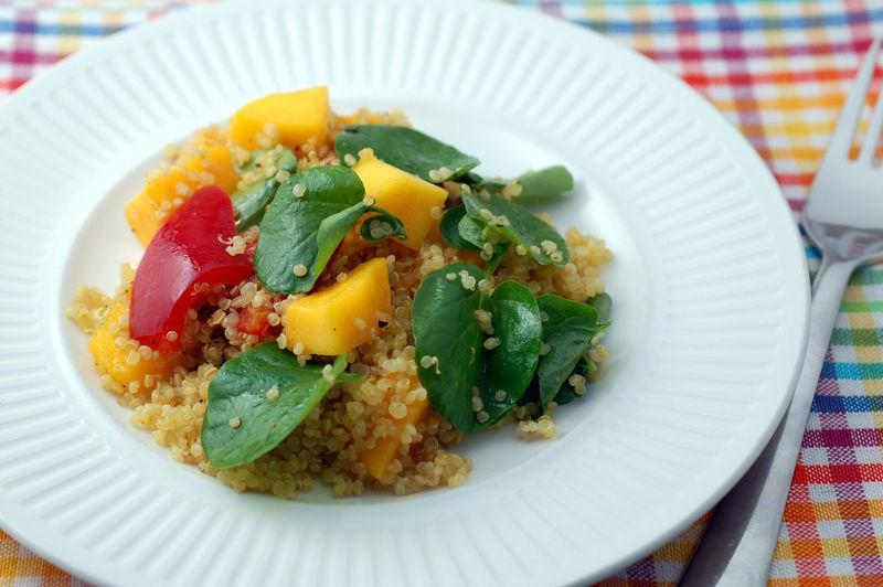Quinoa mango salad 10