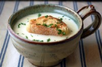 James Beard's Garlic Soup made with 30 cloves of garlic