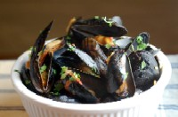 Mussels with Bacon, Lime, and Cilantro