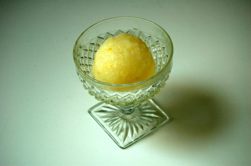 Kitchenography: Lemon Sorbet (no ice cream machine needed!)
