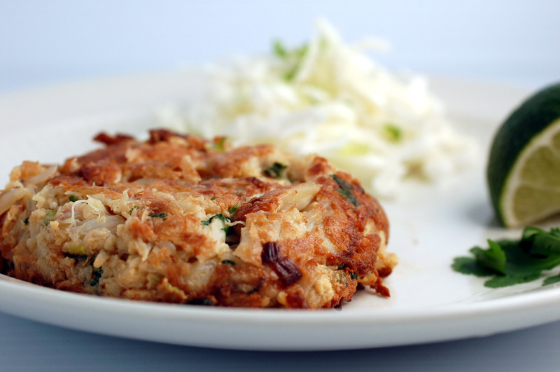Kitchenography: Ginger, Cilantro, and Coconut Milk Crab Cakes